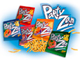TM PARTYzan. Trademark development of snack PartyZan